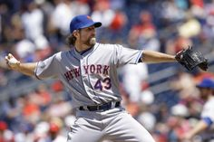One of the best starting pitchers in baseball so far: R.A. Dickey of the Mets.