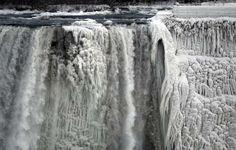 The Niagara, frozen by The Snow Queen's Polar Vortex