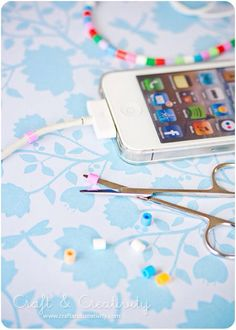 A cute way to decorate your phone charger