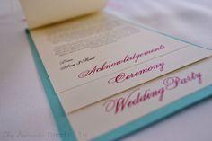 DIY Multi Layer Wedding Programs | Weddingbee Photo Gallery