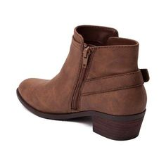"""Strut your stuff with the Kloe Boot from Madden Girl! The perfect addition to any wardrobe, the Kloe Boot rocks an ankle bootie design with decorative zippers and buckles. The Kloe Boot pairs perfectly with tapered jeans for a chic go-to style.   <br><br><u>Features include</u>:<br> > Synthetic leather upper<br> > Decorative brass buckle and side zipper<br> > Inside zipper allows easy on-and-off<br> > Textured rubber outsole for traction<br> > Leather stacked heel<br> > Shaft: approx. 4""""<br…"""