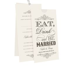 Blank Wedding Invitation Templates D | Budget Wedding Invitations on Wedding Invitations Almond Eat Drink Be ...