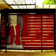 Ferro de correr porta projeto Jali ferro portão principal