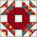 Crown of Thorns Quilt Block free pattern on McCall's Quilting at http://www.mccallsquilting.com/patterns/details.html?idx=8014