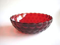 Shop for on Etsy, the place to express your creativity through the buying and selling of handmade and vintage goods. Christmas Is Coming, Christmas Holidays, Red Home Decor, Vintage Holiday, Vintage Glassware, Ruby Red, Vintage Items, Vintage Style, Vintage Kitchen