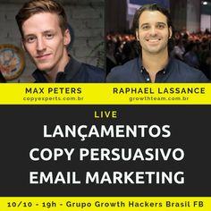 Raphael Lassance - Growth Hacker, Palestrante, Professor e Consultor de E-commerce e Marketing Digital Marketing Digital, E-mail Marketing, Facebook, Live, Amazing, Brazil, Group, Events