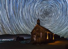 https://flic.kr/p/ds8eNd | Starry Night over Bodie Church | California's Bodie State Historic Park is often described as America's best-preserved ghost town.  I was fortunate to be able to lead 21 photo workshops there in 2012-2014 outside of normal visiting hours: 14 for sunset and night access and seven for sunrise and interior access.    Registration is open for 2015 dates: www.jeffsullivanphotography.com/blog/bodie-night-photogra...