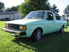 11. 1981 VW Rabbit Truck Mint Green! (We bought this one sometime after we got back from Alaska)