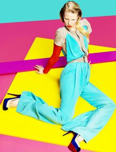 lovely color block editorial