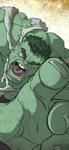 Eye-Catching Superhero Portraits by Dave Merrell - Hulk