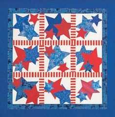 "Don't miss Quiltmaker's Day of Free today with freebies every hour from 9 to 9 on FB: facebook.com/quiltmakermag. This is ""A Real Firecracker"" and the pattern is free from Quiltmaker."