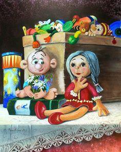 Image (peinture) : Poupée préférée. Auteur Valentina Valevskaya