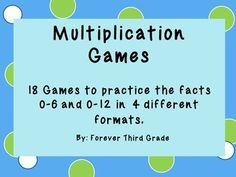 There are many games here for practice by all on their multiplication facts.