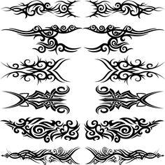 #Tattoo #TattooIdeas #TribalTattoos #TattooDesigns Hawaiianisches Tattoo, Band Tattoo, Tattoo Set, Body Art Tattoos, New Tattoos, Maori Tribal Tattoo, Tribal Tattoo Designs, Tattoo Online, Tribal Images