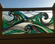 Stained Glass, Waves, Stained glass Window