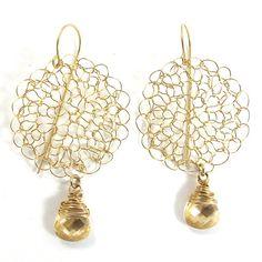 SariGlassman  knitted Earrings  Circle Earrings  by SariGlassman, $58.00
