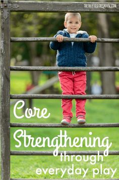 The Inspired Treehouse - Core strengthening for kids continues to be one of the top search terms people use to find their way to The Inspired Treehouse. Here are some of our favorite everyday core strengthening ideas. Gross Motor Activities, Gross Motor Skills, Sensory Activities, Therapy Activities, Activities For Kids, Therapy Ideas, Pediatric Occupational Therapy, Exercise For Kids, Kids Workout