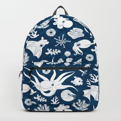 "Our Backpacks are crafted with spun poly fabric for durability and high print quality. Thoughtful details include double zipper enclosures, padded nylon back and bottom, interior laptop pocket (fits up to 15""), adjustable shoulder straps and front pocket for accessories. Dry clean or spot clean only. One unisex size: 17.75""(H) x 12.25""(W) x 5.75""(D). #S6GTP"