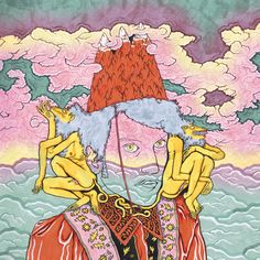 Moodoid is the side project of Parisian director and musician Pablo Padovani, who is also the guitarist for Melody Prochet's touring music project, Melody's Echo Chamber. The psychedelic illustration for his self-titled EP was created by Central Saint Martins graduate Gabriel Weber, who's also worked on artwork for French band Caandides.