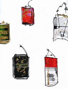 Drawings of INROs - Rebecca Vigers