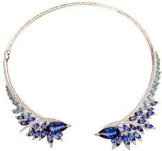 Stephen Webster Tanzanite Plumage Necklace Blue