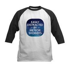 7a82c5f46 Distracted By Meteor Showers Kid's Baseball Jersey - Great gift for the  astrophysicist, astronomer or