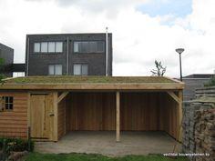houten overkapping met groendak Vechtdal Bouwsystemen BV