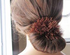 Fluffy scrunchy wool accessorie scrunchy hair by CreationsClaudene