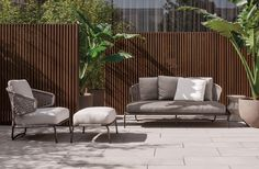 "Aston ""Cord"" Outdoor Collection, Rodolfo Dordoni Design #lifescape #outdoor #aston #cord #sofa #armchair"