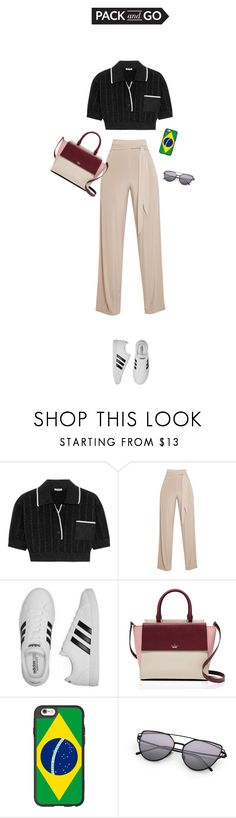 """""""pack n go"""" by fanfan-zheng ❤ liked on Polyvore featuring Miu Miu, adidas, Kate Spade and Casetify"""