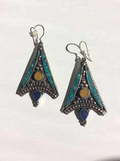 A personal favorite from my Etsy shop https://www.etsy.com/listing/245178610/tibetan-silver-crushed-turquoise-and