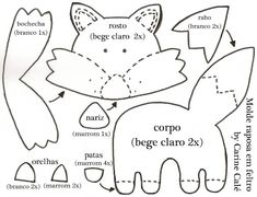 DIY Felt Fox - FREE Pattern / Template