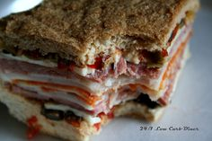 24/7 Low Carb Diner: Ode to Maria Muffaletta (Maria Emmerich's Toasted Sub and Panini Bread
