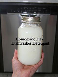 Homemade DIY Dishwasher Detergent