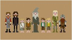 Lord Of The Rings cross-stitch? I think yes