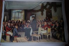 Eidsvollsamlingen 1814, bilde limt på lerret - FINN Torget