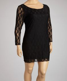 Allover lace makes this chic shift silhouette ultra femme. The sheer sleeves and elegant scoop neck offer the perfect amount of coverage for day-to-night wear all year long.  Size note: This item runs small. Ordering one size up is recommended.