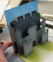 Stamp-n-Design: Castle Pop-Up Card!