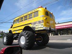 www.DowntownModesto.com    The Kool Bus driving down McHenry Avenue towards Downtown Modesto, California