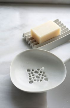 soap dish Simple, functional and beautiful. Love the corregated soap dish !