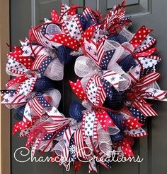 of July Wreath Patriotic Wreath Summer Wreath Fourth of Fourth Of July Decor, 4th Of July Wreath, July 4th, Patriotic Wreath, Patriotic Decorations, Creative Gift Packaging, Memorial Day Wreaths, Wire Wreath Frame, Wreath Crafts