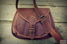 Small Vintage Women Leather Handbag / Brown Leather Purse / Ladies Cross Body Bag / Girls Hip Bag / Shoulder Bag / Day Travel Pouch on Etsy, $67.04 AUD