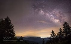 Smoky Mountains nightcap  A beautiful view of the milky way rising over the Smoky Mountains on the North Carolina/Tennessee boarder.  This picture was taken around two hours after sunset and the sky would be clear for a few minutes then cloud up.  I luckily caught this picture right before the clouds moved in and covered up the stars.  Camera: Canon EOS 6D Shutter Speed: 15sec ISO/Film: 2500  Image credit: http://ift.tt/29oUcfY Visit http://ift.tt/1qPHad3 and read how to see the #MilkyWay…