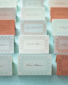 Hundreds of Free Wedding Templates for DIY Brides: Wedding Place Card Templates