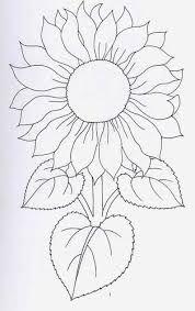 Dibujo de Girasol Dibujo infantil para colorear de Girasol