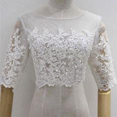 Find More Wedding Jackets / Wrap Information about Real Elegant Ivory Half…