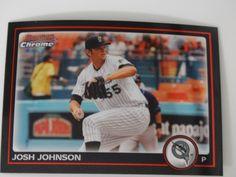 2010 Bowman Chrome #125 Josh Johnson Florida Marlins Baseball Card #BowmanChrome #FloridaMarlins