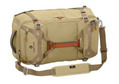 Eagle Creek Load Hauler Expandable, Tan/Olive, One Size. Expandable convertible backpack/duffel bag in ultra-durable, water-repellent geo ripstop and ballistic fabrics with bartack reinforcement for strength^Multiple carry options include zip-away backpack straps, removable padded shoulder strap, and multiple grab handles^Zippered 360° bottom expansion for more carry capacity when needed^Covered Under Eagle Creek No Matter What Warranty.
