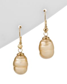 Majorica 18K Over Silver Man-Made Pearl Earrings  Jewelry