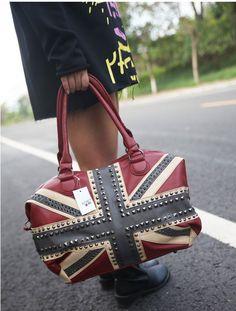 Rétro drapeau britannique Rivers bandoulière & sac à main only $43.9
